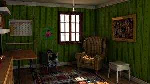 古いテレビのある部屋